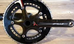 FSA SLK Carbon Crankset. Fair condition. 175mm crank arms. 53/39 chainrings. Fits external bearing bottom brackets such as the FSA MegaEXO