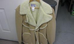 full leather jacket fur lined 110.00 & leather vest fur lined 50.00 both br. new