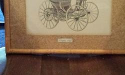 "1893 Duryea print from alex fraser galleries, also 1905 Baker Electric from same gallery, they both measure 12"" x 8 3/4"" with frame , they are at least 30 years old. $100 obo per item. Cash sale only will not ship. Please phone 2505914953 and ask for Jack"