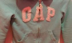 Girls size small(6-7) hoodie from Gap light blue in color excellent condition selling for $10