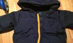 Barely worn, like new Navy blue Gap snowsuit (one piece) perfect for those with little ones next season.