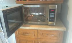 Great shape microwave. Moving and just don't want to take a lot of things with us.