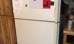 Top-freezer refrigerator works great, selling due to an estate sale. Delivery available for an additional fee depending on distance to be delivered.