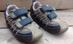 Geox blue and grey toddler shoes. Size 24 (US 8).