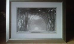 """Quality frame picture by designer Martin Gerard. width 42"""" x 32"""". beautiful serene black n white picture"""