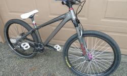 2012, 26 Inch Wheels, Excellent condition, Has two seasons of light riding on it, overall 10/10 condition. Has no scratches or dents on frame, well maintained, have car now and no longer need bike. Fuse seat, Truvativ stem, Animal grips, Avid disc brakes,