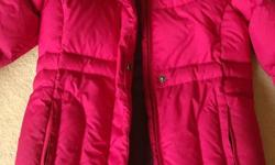 Girls Down Jacket in like new condition (worn few times). High quality, super comfy, nice style that make a girl look slim. Size 10 which might fit girls age 9-12.