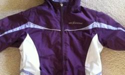 Size 6 girls purple ski cruiser ski jacket. Fleece lining, wind and water proof. Will not hold due to no shows, prompt pick up. This ad was posted with the Kijiji Classifieds app.