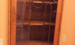 """Beautiful small glass cabinet with drawer and 4 shelves. 23.5"""" x 12"""" x 49"""" high"""