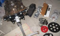 4 bolt main, bored .040 over (6000km since), GM performance cam, double roller timing chain, heads have brand new valve seals and guides, Edelbrock torquer ii intake (also drilled to work with vortec heads) crank needs turned. bought motor as project for