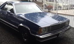 Make Chevrolet Model El Camino Year 1980 Colour Blue kms 15500 Trans Automatic This is a number matching car.in very good condition.it is a GMC not a Chevrolet.