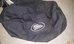 Sports traders goalie bag. In pretty good shape zippers all work.