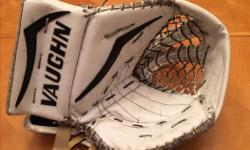 Vaughn Senior Goalie Glove, V7 Pro XF Carbon. Used one season (last season). Price tag still on glove ($589+taxes). Excellent condition, looking for well under 1/2 original price. Also have matching blocker.