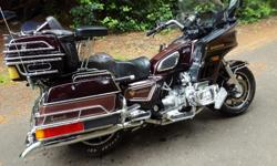 This is a beautiful 1985 goldwing 1200. It has been well maintained and is ready to do a trip. The digital dash works great and even the cassette works. The seat has been reformed and heightened for extra comfort. The air suspension works great and being