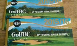 Contains over $2000 worth of savings! Regular price is $89.95 Includes coupons for Furry Creek, Nicklaus North, Mayfair Lakes and other Golf BC courses in Kelowna and on Vancouver Island and Hawaii!! Most coupons are good until June 30, 2017!!! Use one