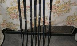 DJ Howson irons. Graphite shafts. Incomplete set. 3 , 6 , 7 ,8 , 9 , P , S ..No 4 or 5 iron $15.00 EA or $ 70 for all 7