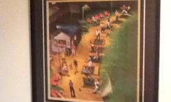 Comical golf print. 14 x 16