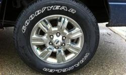 set of four Goodyear Wrangler taken off 2012 F150. Only 66000k. Always rotated never been flat or repaired. 6/32 tread remaining. 275 65 R18