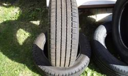 Michelin (2) 185/65R-14 good shape still, 60-65 % tread ,asking $70 or best offer.They are artic alplin but not a new tire so will work good for summer. call or email ,will reply same day.
