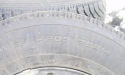 """For sale 4 Goodyear Nordic 14"""" snow tires with rims,bolt pattern 5 x 100mm, great shape only used 2 seasons. Call Jeff 519-787-2243 I will not remove this add until sold"""