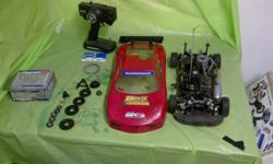 I'm selling my Hobao GPX4 nitro touring car, it is an excellent car, superior handling, excellent take-off and it sound awesome. It goes 55mph/89kmh and runs on nitromethane (standard rc car fuel 20%-30%). The engine in it is practically new (5 break-in