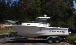 1999 Bayliner TROPHY, twin 2001 150HP Mercury Optimax outboards on pod