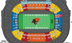 4 Grey Cup Tickets for sale.  Section 417, Row SS, Seats 1 - 4 (aisle seat).  Twenty Yard Line Includes 4 tickets to the Vanier Cup - Can no longer go.  If you are interested please contact via e-mail. Indoor stadium.  Tickets have not been release yet,