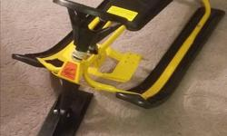 Original GT Snow Racer in perfect condition. Steel frame. No cracks or broken parts. Steering wheel, brakes and tow cord. Not sold in stores any longer. New $150+ online--then you have to assemble it. Fits up to young teens.