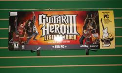 Item: This is a complete in box copy of Guitar Hero 3 for the PC. Comes with everything you need to get rocking on your home desktop or laptop! All games & consoles come with a one month warranty. Thanks for viewing our post! For more gaming items click