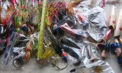 (((Open this ad to view all that is listed.)) HALIBUT and TUNA FISHING LURES. (101 0712) I have halibut and tuna fishing lures from $1.50 to $10.00 each There are several with curved hooks and braided steel leaders. The most are from $3.00 to $7.00 each.