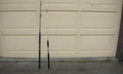 (((Open this ad to view all that is listed.)) HALIBUT FISHING RODS. $35.00 - FENWICK HOTSTIK E-GLASS HALIBUT 7 ft. ROD. 15 to 40 lb. line. $20.00 - OLDER WHITE HALIBUT FISHING ROD. Both in good to very good condition. Its a house number so texting will