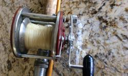 Penn 309 level wind reel in good condition. Comes with rod. Good halibut reel. Also have Peetz harpoon for $40.00