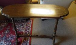 Vintage Hall Table 30 inchs high Top size 16 x 42