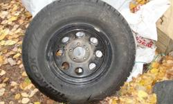 Hancook IPike Snow Tire for Sale Low mileage, 235/75/R15 on black steel rims.  $600 OBO Don't Miss this deal. Ask for  Jason 250.229.55668