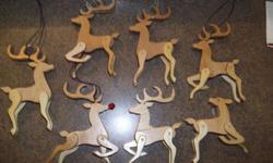 deer ornaments, hand made $5 each