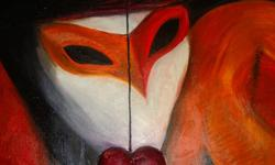 oil on canvas    heart is 3D