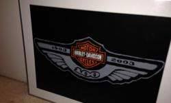 Hand painted Harley Davidson memorabilia, really nice artwork and really nice frame too. Call or text or email if interested.