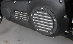 """Primary and Inspection covers are Custom CNC machined from high strength, 6061-T6 aircraft grade billet aluminum. Finished with a durable powder coat finish that will add class and style to your Harley Davidson motorcycle. For our """"Contrast"""" series, we"""