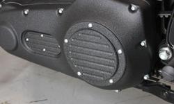 """Primary and Inspection covers are Custom CNC machined from high strength, 6061-T6 aircraft grade billet aluminum. Finished with a durable powder coat finish that will add class and style to your Harley Davidson motorcycle. For our """"Eclipse"""" series, we"""
