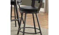 """Modern style heavy duty steel counter height swivel stool. Very comfortable cushioned seat. Brand new in box with warranty. Perfect for use with a kitchen island or counter height table. This style is also available in bar height (30"""") for $149. Free"""