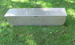 This unit was custom made for my charter boat. It is fairly heavy and made of stainless steel. I filled the bottom with crushed ice then placed our catch on top of the ice. It is 4 feet long, 1 foot wide and 10.5 inches tall and comes with a custom made