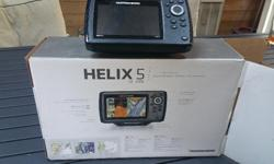 HELIX 5 DI - GPS Fish finder, has everything included, like new.....why pay 450 + TAXES for a new one.