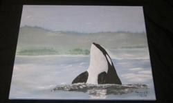 "Acrylic paintings by Henry B. 2 Acrylic paintings 16"" x 20"" unframed. $60 each or two for $100 Located central Nanaimo"