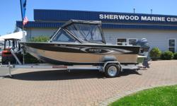 This strong and roomy2018 Hewescraft 180 Pro V Soft TopwithExtended Transomcomes powered by a Yamaha F90XB and packaged with a4000lb Tuff Trailer. Factory options include: *Anchor Roller *Downrigger Brackets *2nd Fuel Line
