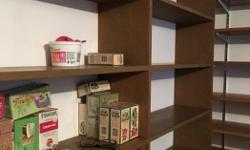 """Real Canadian PlyWood, Not Press Board Very High Quality 2 - Free Standing Book, Vitamin & Tea Cases Shelves 9-1/2"""" d x 7ft. High & 1- 4 Ft. High X 48""""W, Two 37""""W x 47""""H X 12"""" deep $110.00 Each. Or $425.00 For The Whole Lot. Text 250-667-5188 Stained &"""