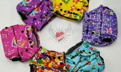The entire line is available at Sailor jack Consignment Quality Cloth diapers at a fantastic price point One size cloth diaper with charcoal fleece liner $14.50 Training pants $10 Grow with me pants $14.50 Grow with me knickers $12.50 2 pocket wet bag