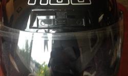 HJC CL-11 Solid Helmet - Black. Front vent, two top vents.