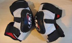 Hockey Elbow Pads Men's Size Large Easton Minor Wear $15 PRICES ARE FIRM  PLEASE CLICK ON THE WEBSITE LINK TO VIEW OUR ENTIRE STOCK OF HOCKEY GEAR. WE CARRY ALL SIZES. NEW STOCK ARRIVES DAILY.  We are a local business here in