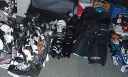 "Used hockey gear,size 5.5 and 8.5 skates,size 12"",13"" gloves,size jr lg,jr med,sr lg pants,size youth sm,adult lg elbow pads,size jr sm shoulder pads,size 14"",15"" shin pads,neck guard,open to offers on all equipment"