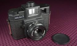 The cult medium-format camera with a colour wheel that tints your exposures with yellow, red, blue or clear gels. Equipped with the ?B? setting for long exposures. Want a dreamier overall effect to your pictures? The Holga's low-cost construction and